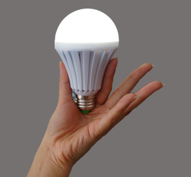 LED Intelligent Light Bulb with Backup Battery for Loadshedding
