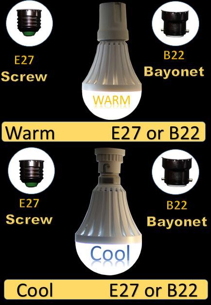 LED E27 B22 Screw Bayonet
