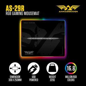 Armaggeddon Assault AS-29 RGB Gaming Mouse Pad