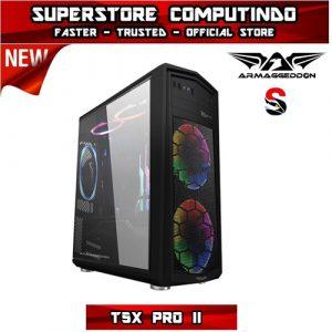 Armaggeddon T5X Pro II Full ATX Gaming Case - Black